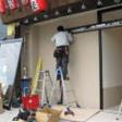 自動ドア施工中1