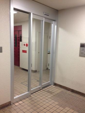 二重引き戸自動ドア新設工事
