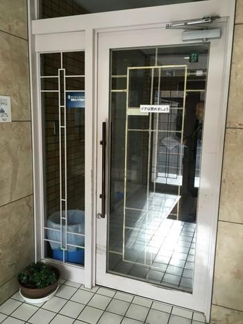 大阪市 マンションエントランス 自動ドア新設 施工前