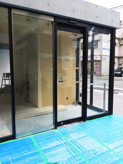 西宮市自動ドア入れ替え工事