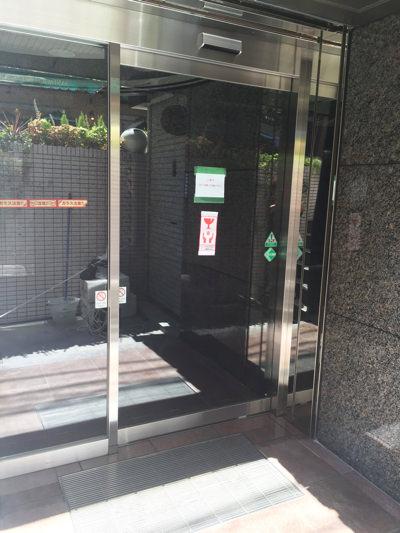 大阪市西区自動ドア工事