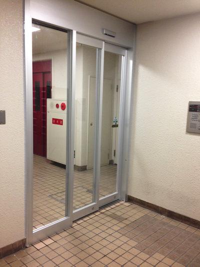 大阪市浪速区自動ドア工事