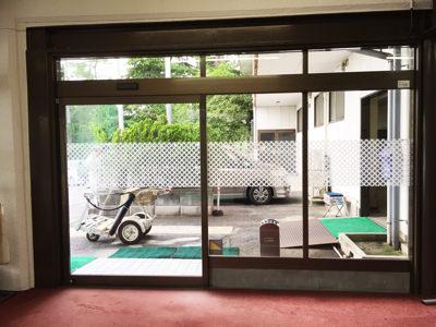 某ゴルフ場 自動ドア装置入れ替え工事