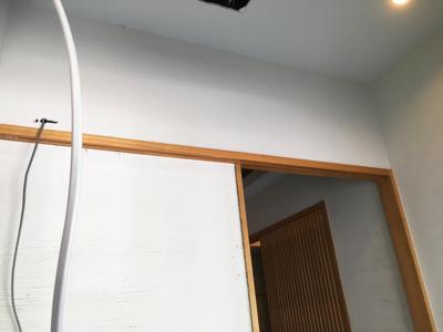 自動ドア装置配線完了