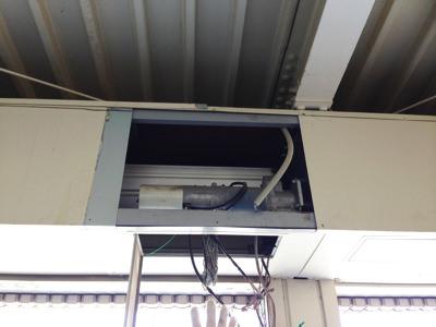 泉佐野市 シャッター安全装置取り付け工事 モーター施工前