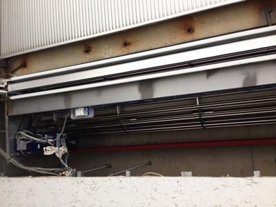 大阪市浪速区 車庫シャッターモーター設置完了