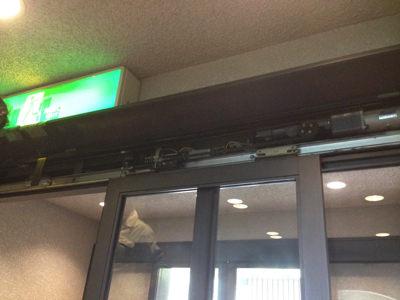2階 自動ドア装置施工前
