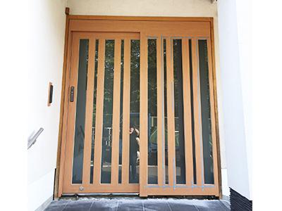 フロントサッシ・自動ドア装置新設完了