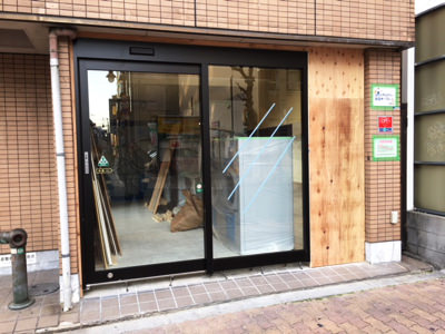 フロントサッシ&自動ドア装置施工完了正面