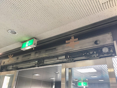 内側 自動ドア装置取替前