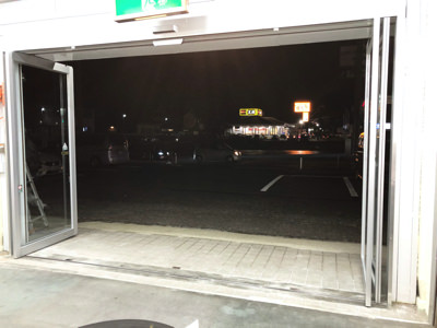 施工完了ドア開放時(内側)